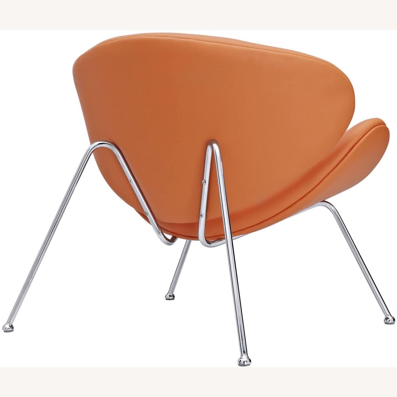 Mid-Century Modern Accent Chair In Orange - image-1