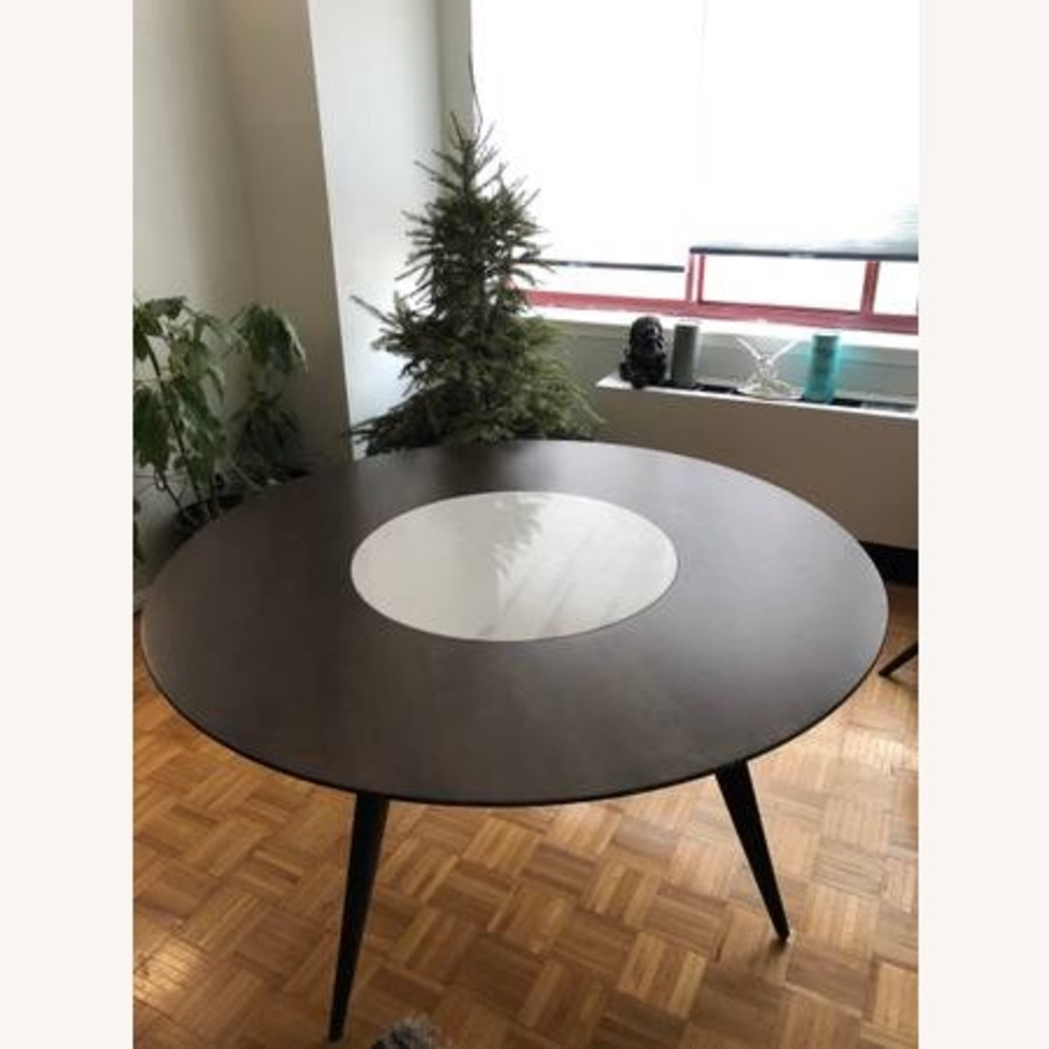 West Elm Turner Lazy Susan Dining Table - image-1