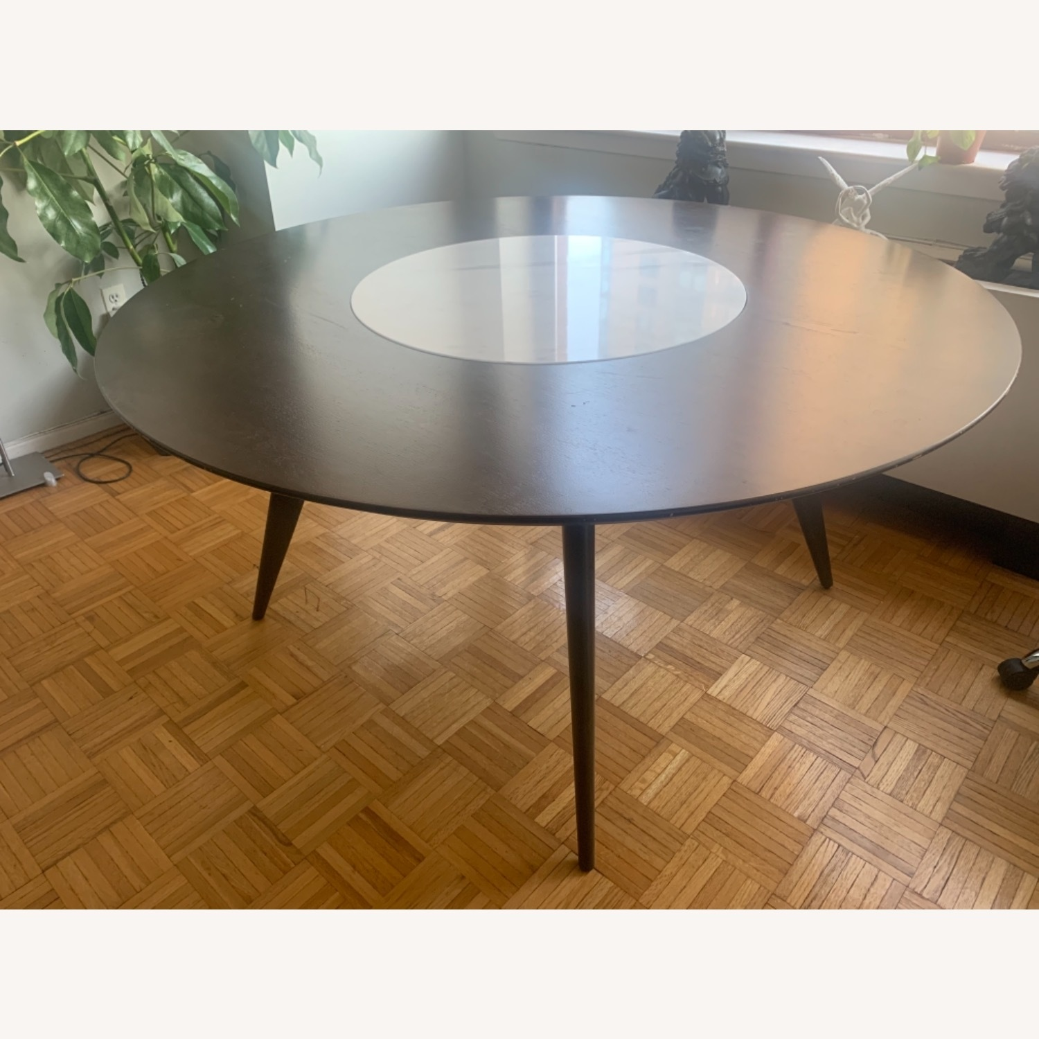 West Elm Turner Lazy Susan Dining Table - image-2