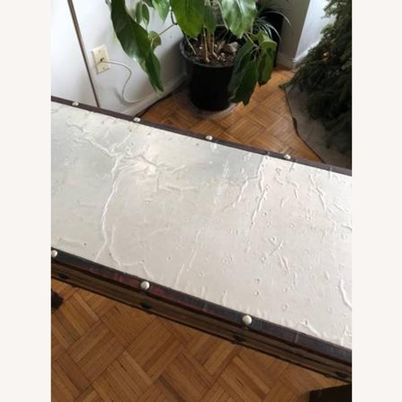 Aluminum & Wood Side Table - image-3
