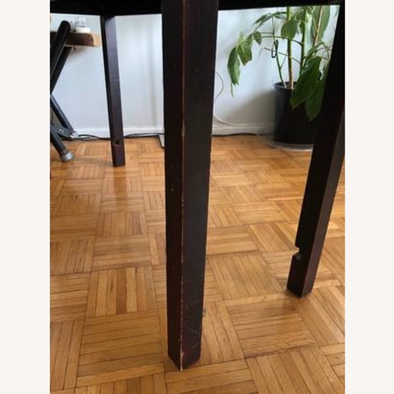 Aluminum & Wood Side Table - image-5