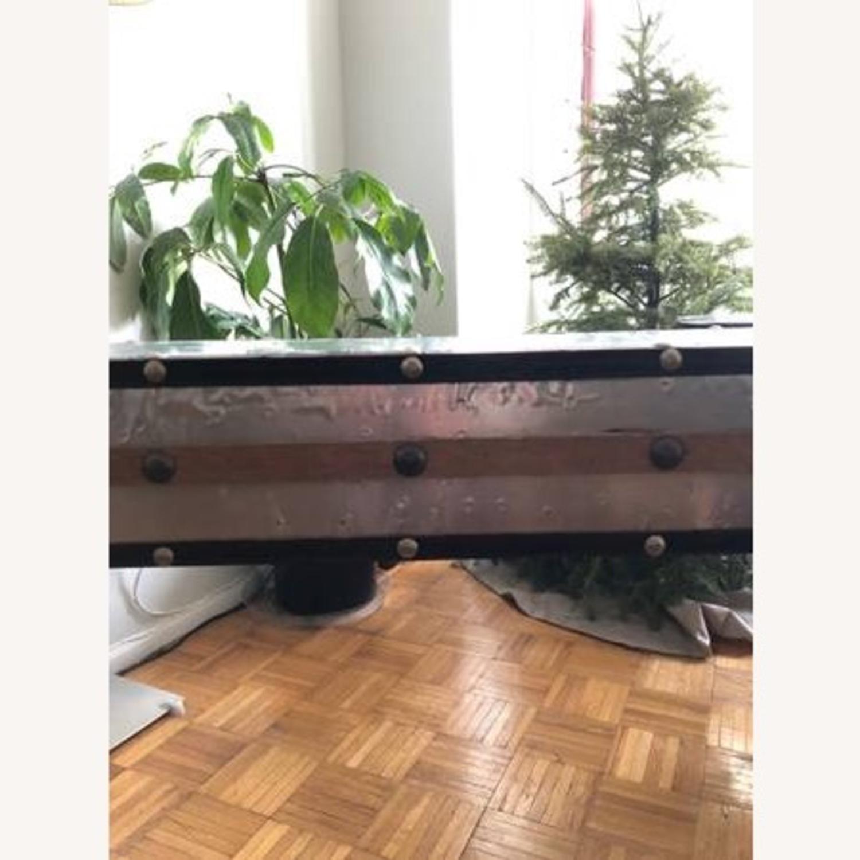 Aluminum & Wood Side Table - image-4