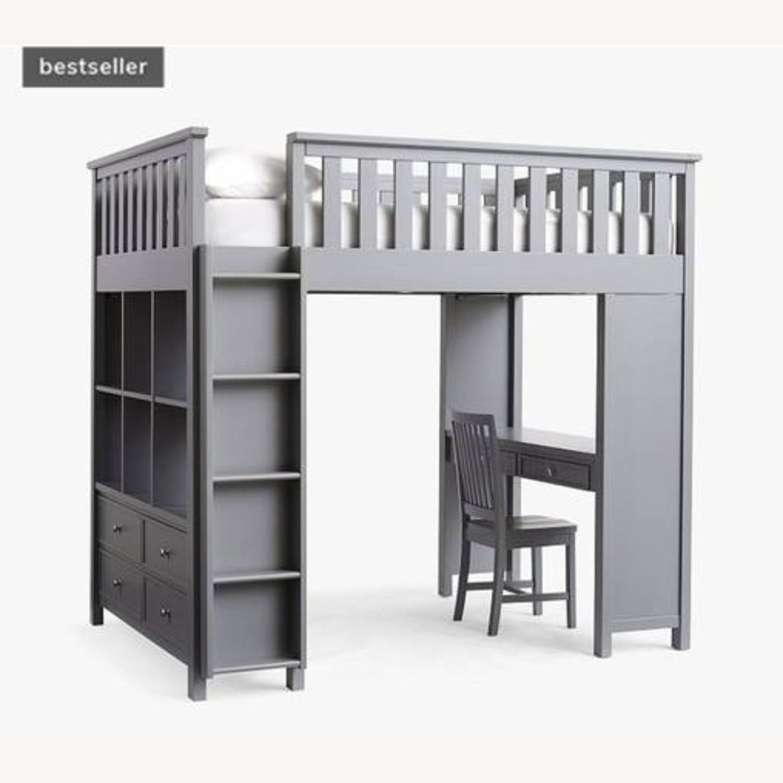 Pottery Barn Elliott Loft Bed & Desk System - image-1