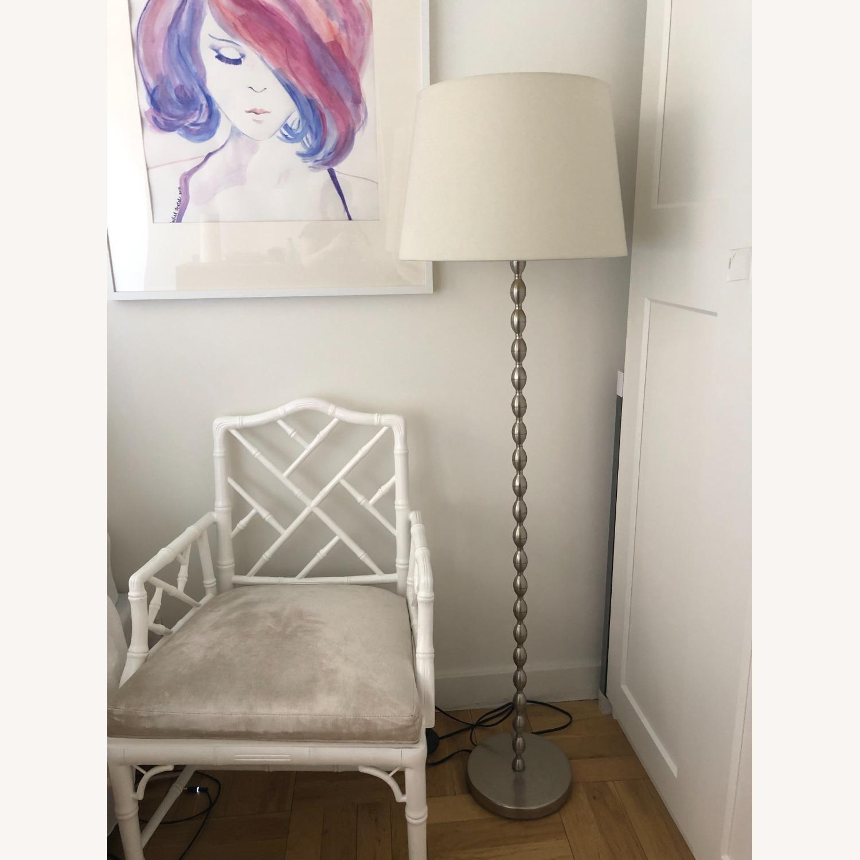 IKEA WHITE SHADE Metal Base Lamp - image-1