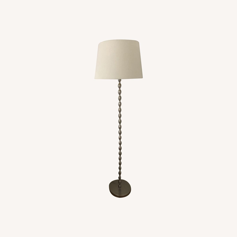 IKEA WHITE SHADE Metal Base Lamp - image-0