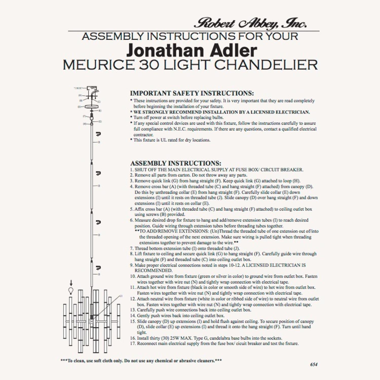 Jonathan Adler Meurice Chandelier in Brass - image-12