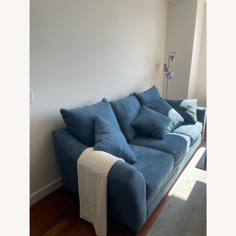 Raymour & Flanigan Queen Plus Microfiber Sleeper Sofa - image-2
