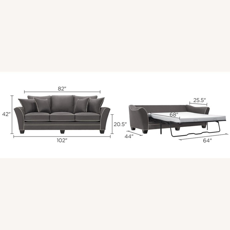 Raymour & Flanigan Queen Plus Microfiber Sleeper Sofa - image-4