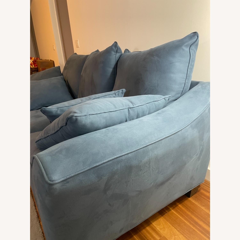 Raymour & Flanigan Queen Plus Microfiber Sleeper Sofa - image-8