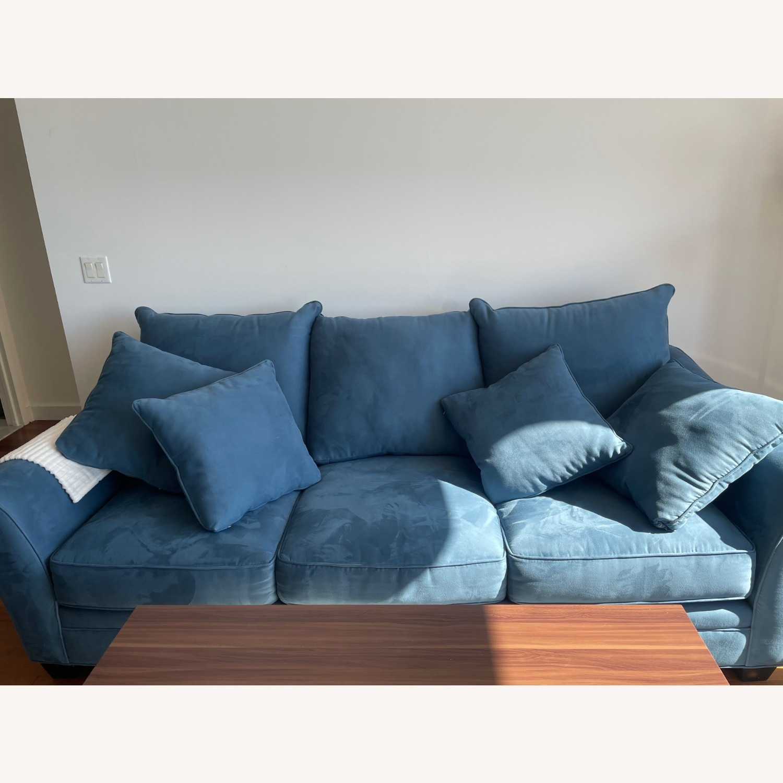 Raymour & Flanigan Queen Plus Microfiber Sleeper Sofa - image-1