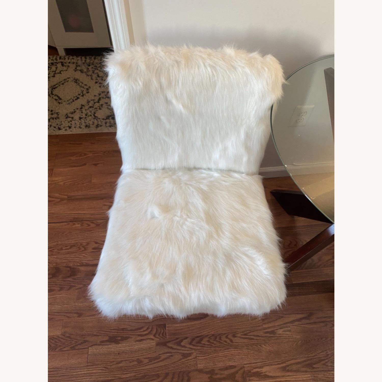 White Faux Fur Chair - image-8