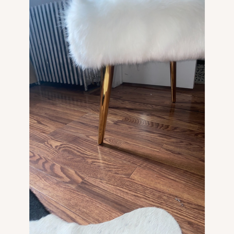 White Faux Fur Chair - image-5
