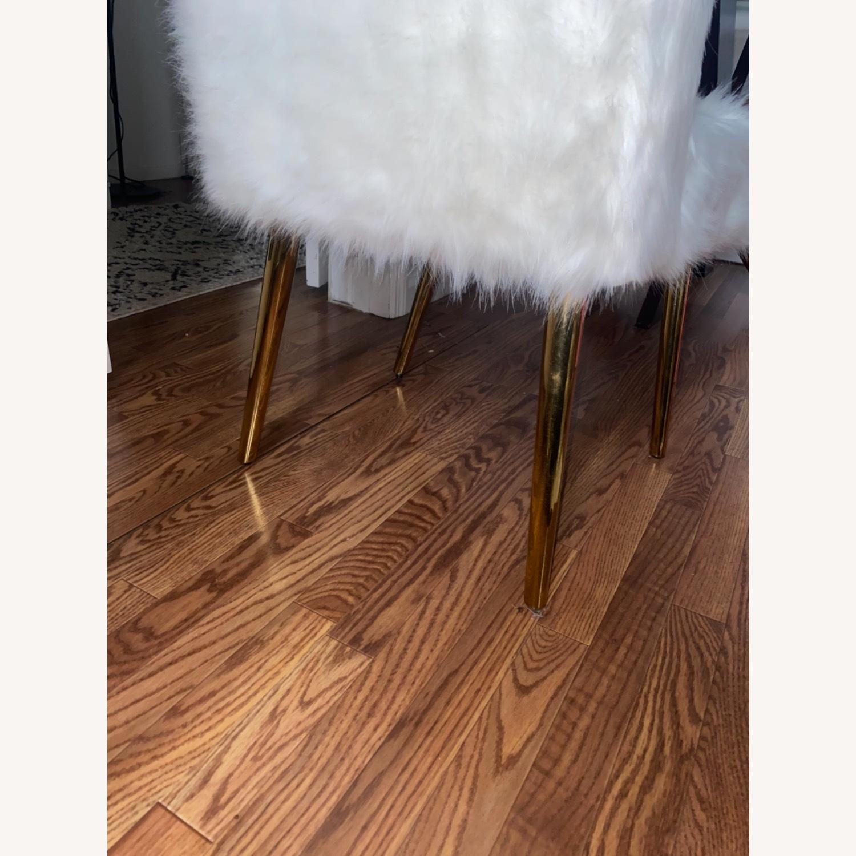 White Faux Fur Chair - image-3