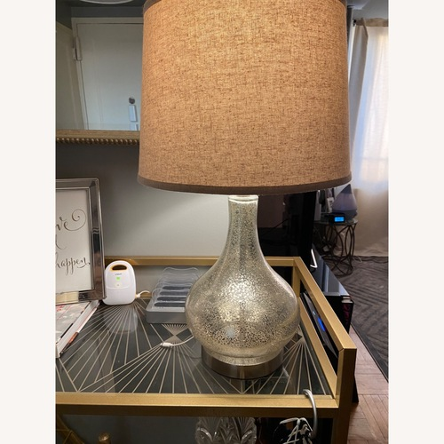 Used Joss & Main Glass Table Lamp for sale on AptDeco
