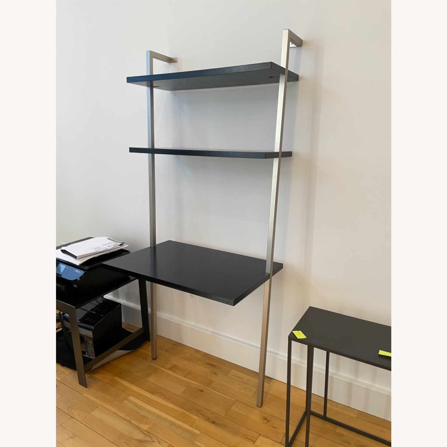 Stairway Style Desk and 2 Bookshelf Units - image-1