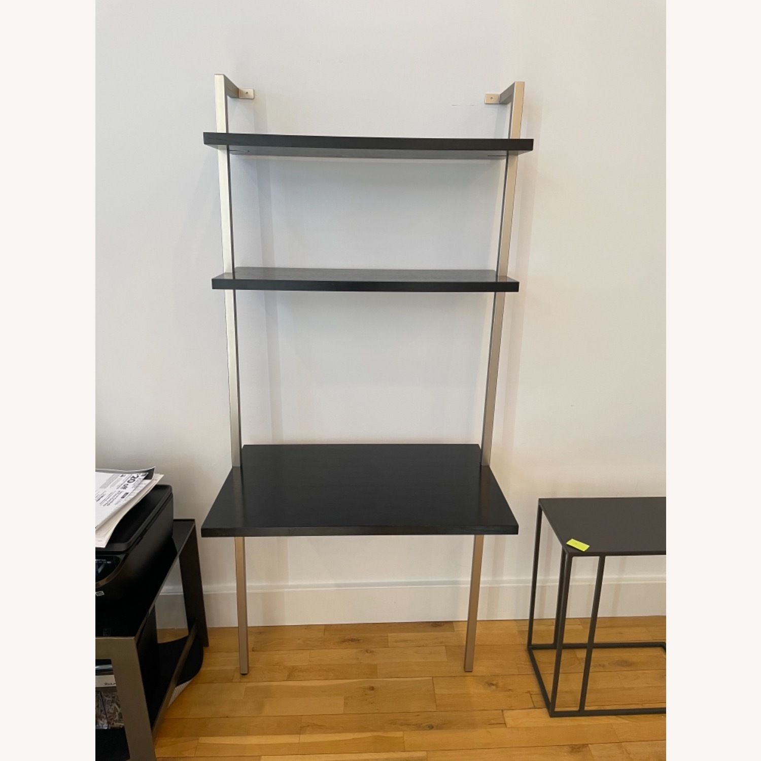 Stairway Style Desk and 2 Bookshelf Units - image-0