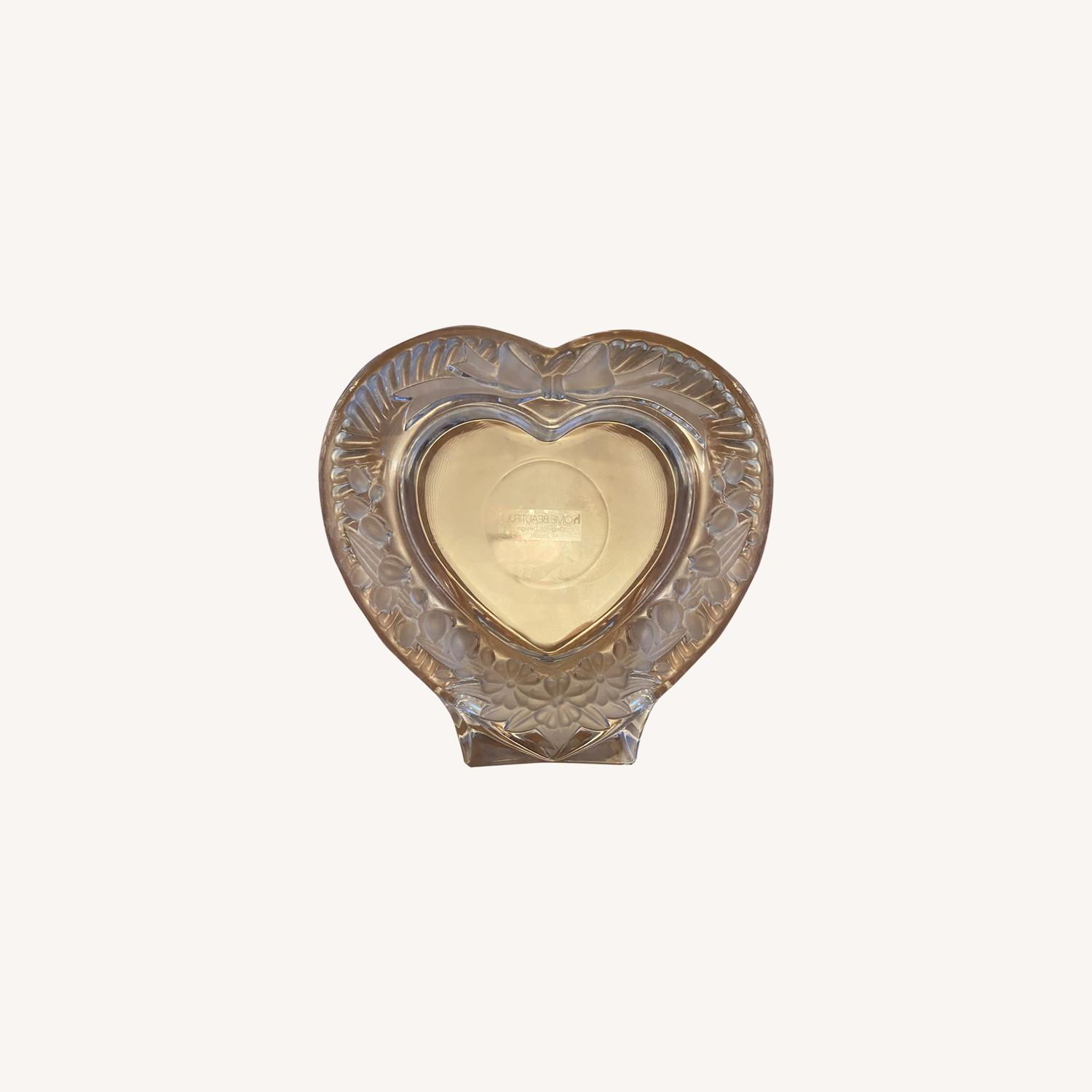 Mikasa Heart Shaped Glass Picture Frame - image-0