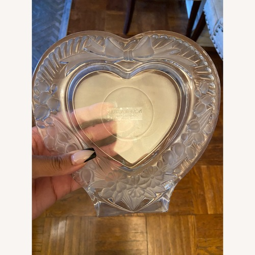 Used Mikasa Heart Shaped Glass Picture Frame for sale on AptDeco