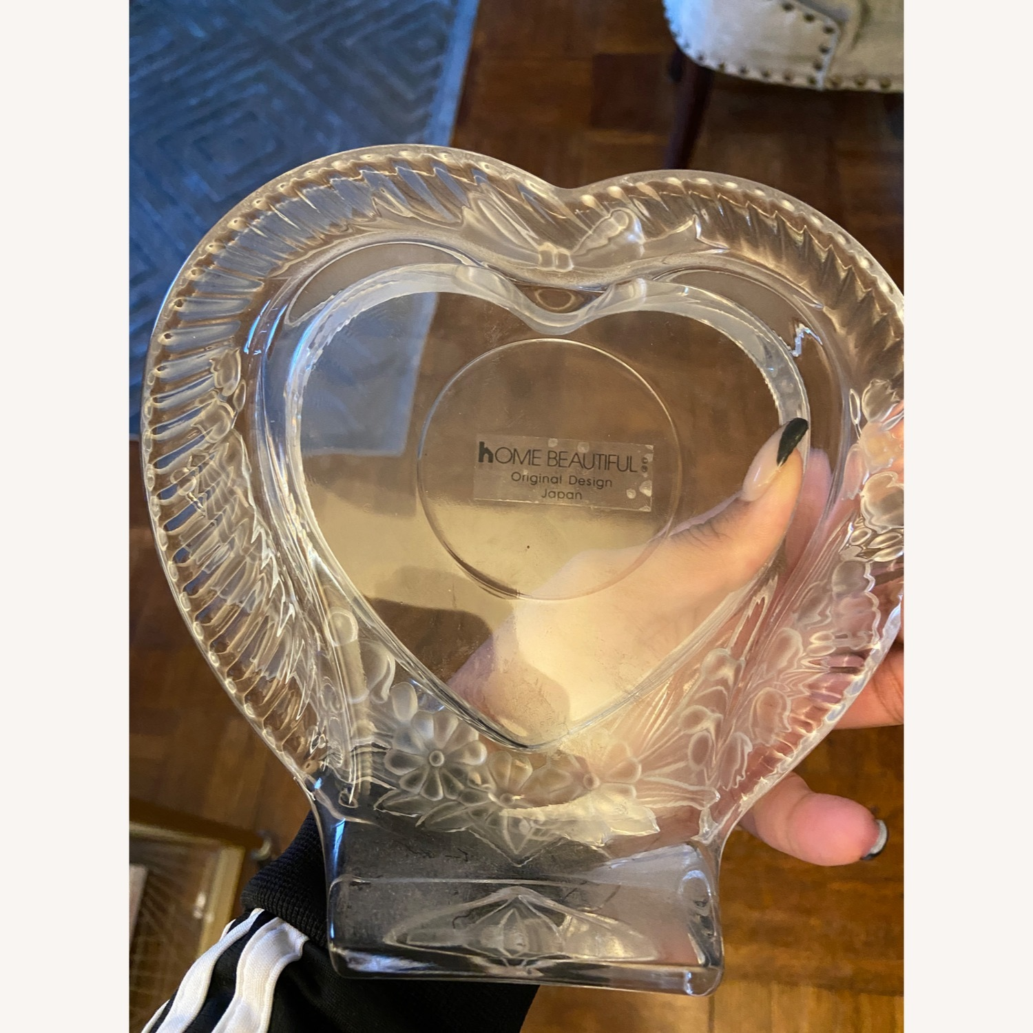 Mikasa Heart Shaped Glass Picture Frame - image-2