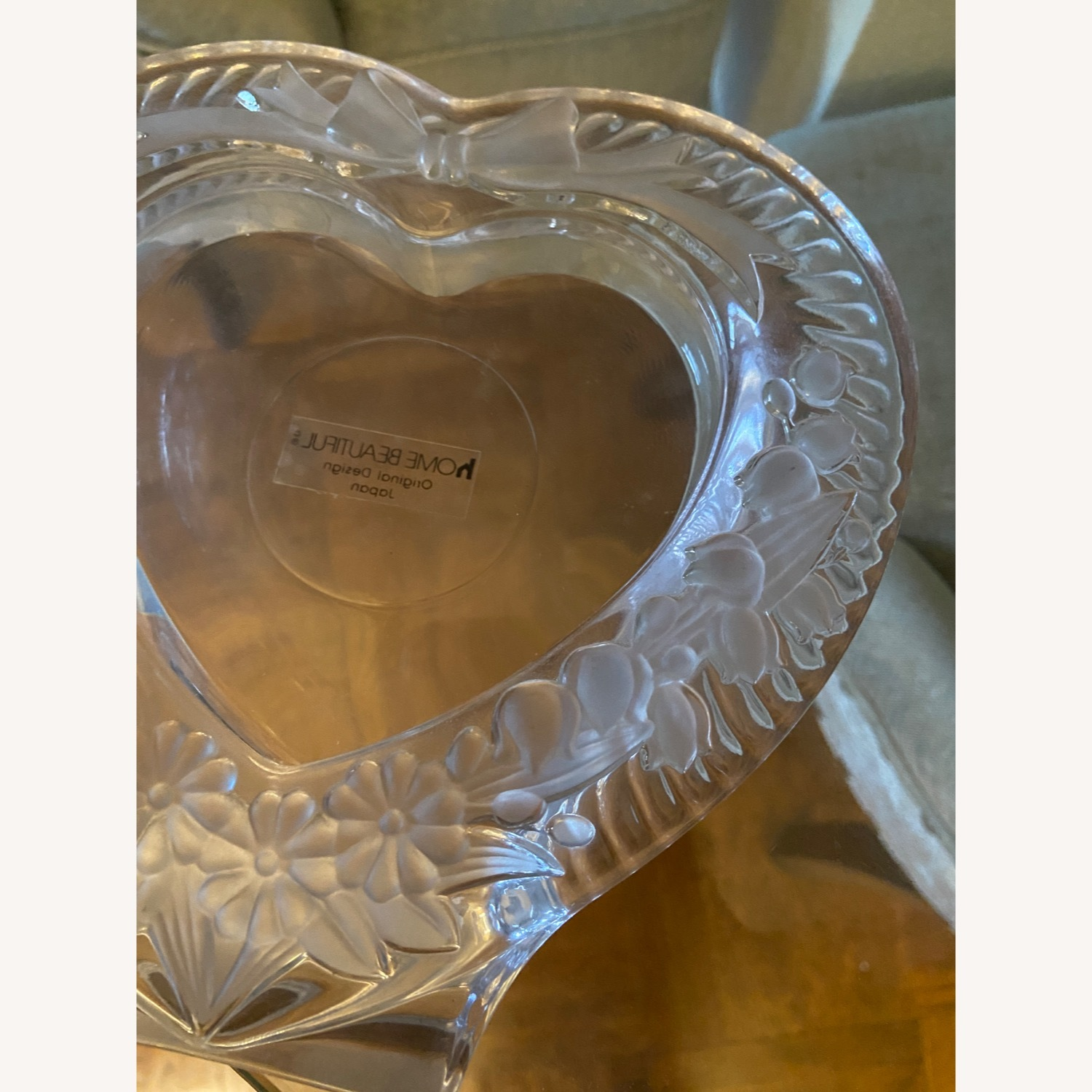 Mikasa Heart Shaped Glass Picture Frame - image-5