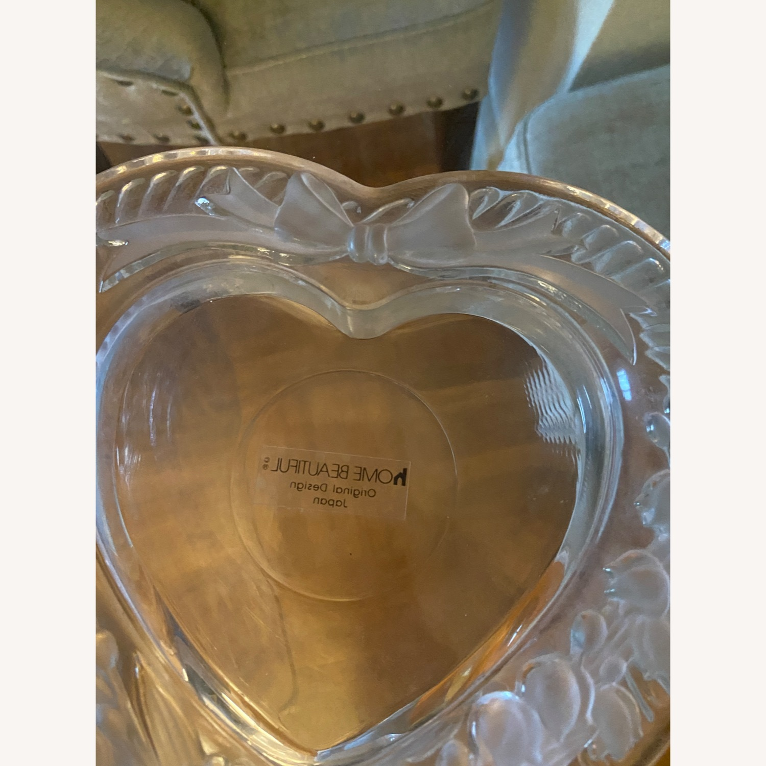 Mikasa Heart Shaped Glass Picture Frame - image-3