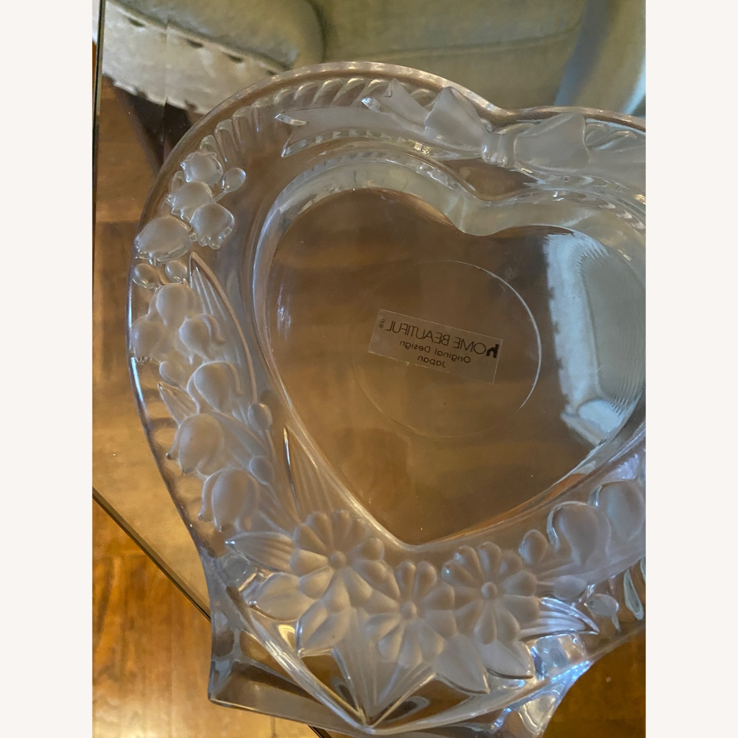 Mikasa Heart Shaped Glass Picture Frame - image-4