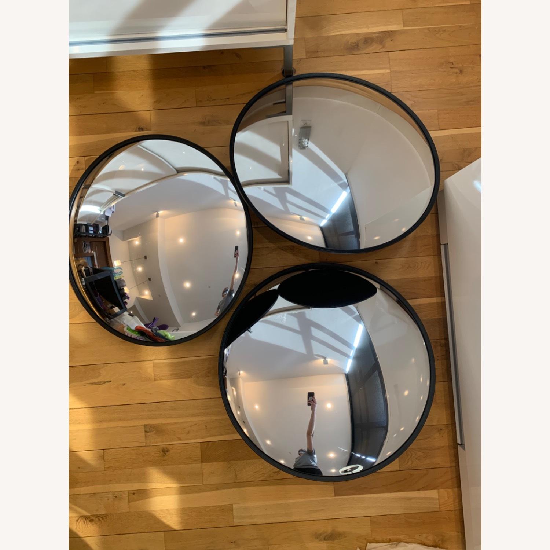 CB2 Black Convex Mirror - image-2