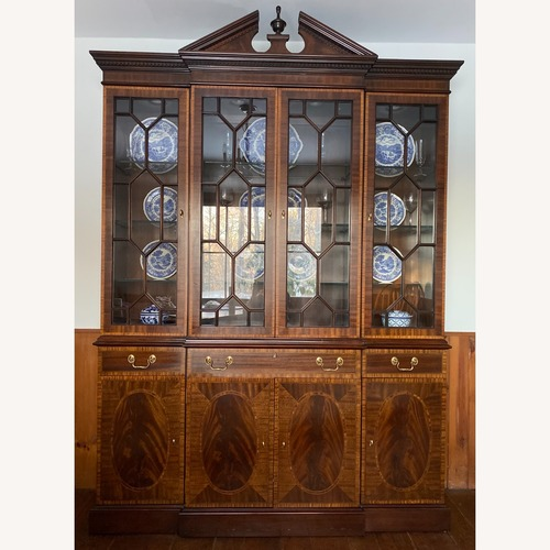 Used Councill Inlaid Mahogany Breakfront China Cabinet for sale on AptDeco