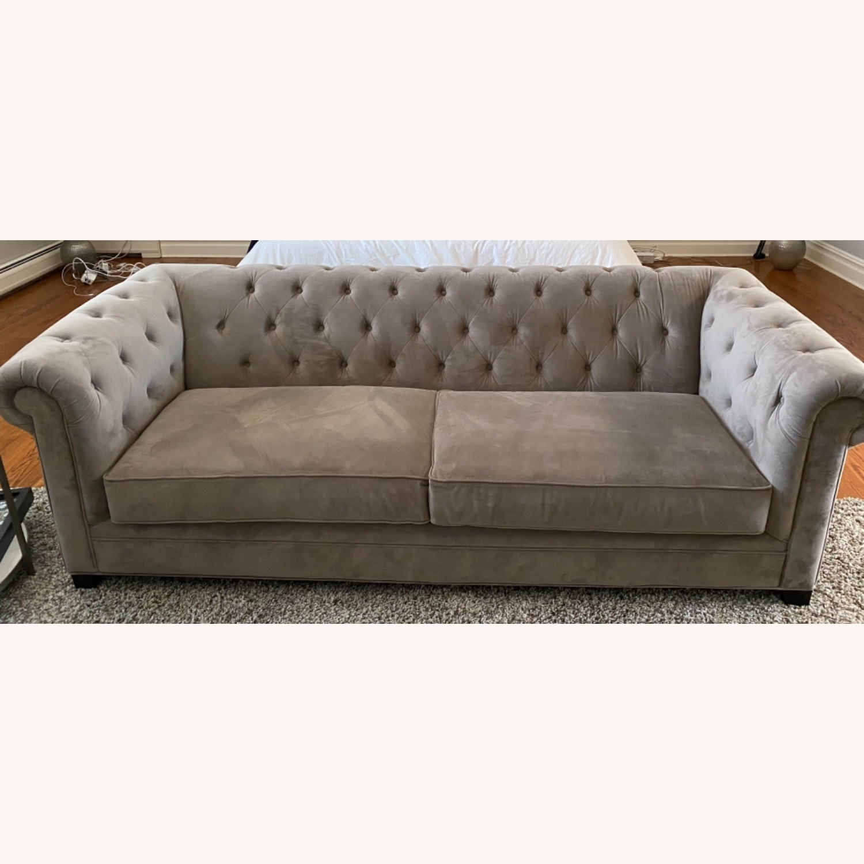Martha Stewart Dark Grey Fabric Sofa - image-4