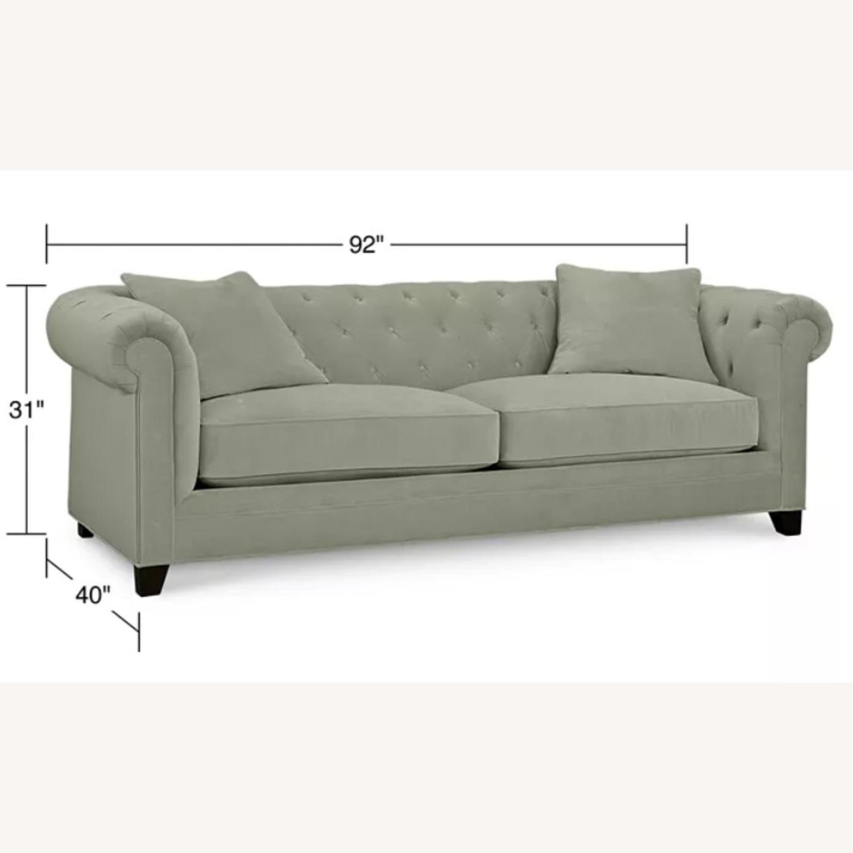 Martha Stewart Dark Grey Fabric Sofa - image-2