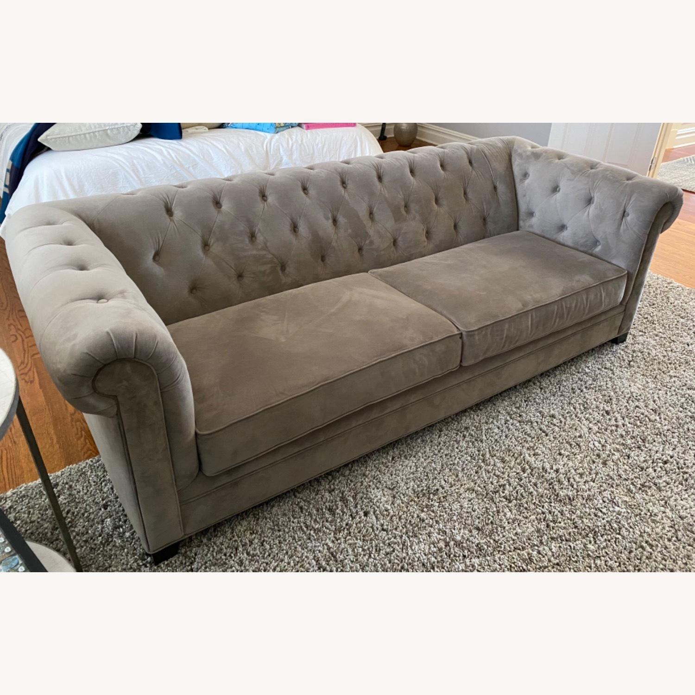 Martha Stewart Dark Grey Fabric Sofa - image-5