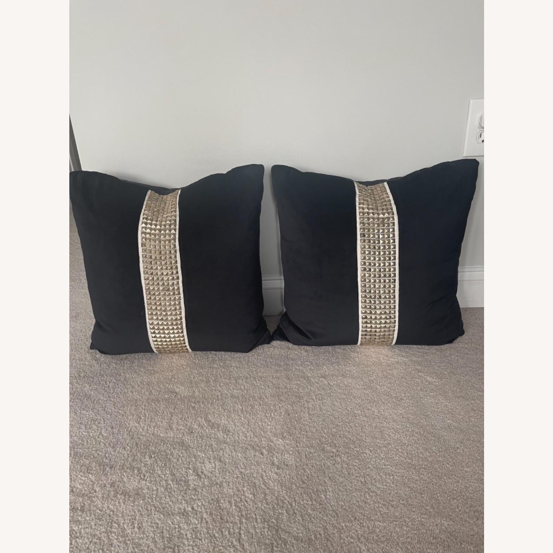 Black Velvet Throw Pillows - image-1