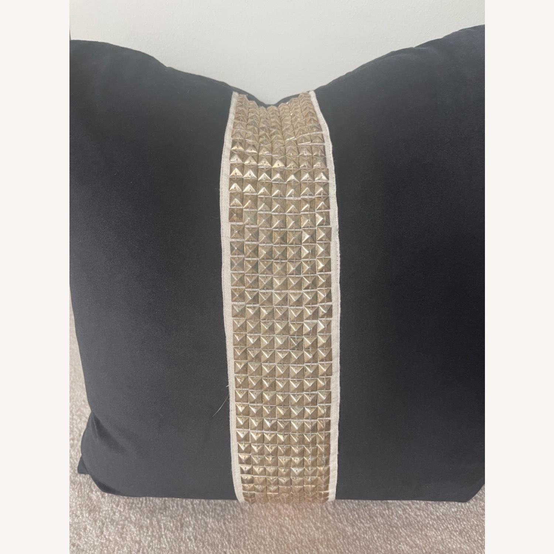 Black Velvet Throw Pillows - image-3