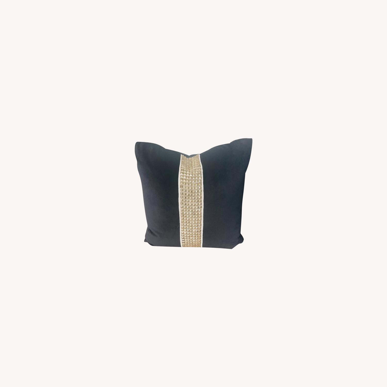 Black Velvet Throw Pillows - image-0
