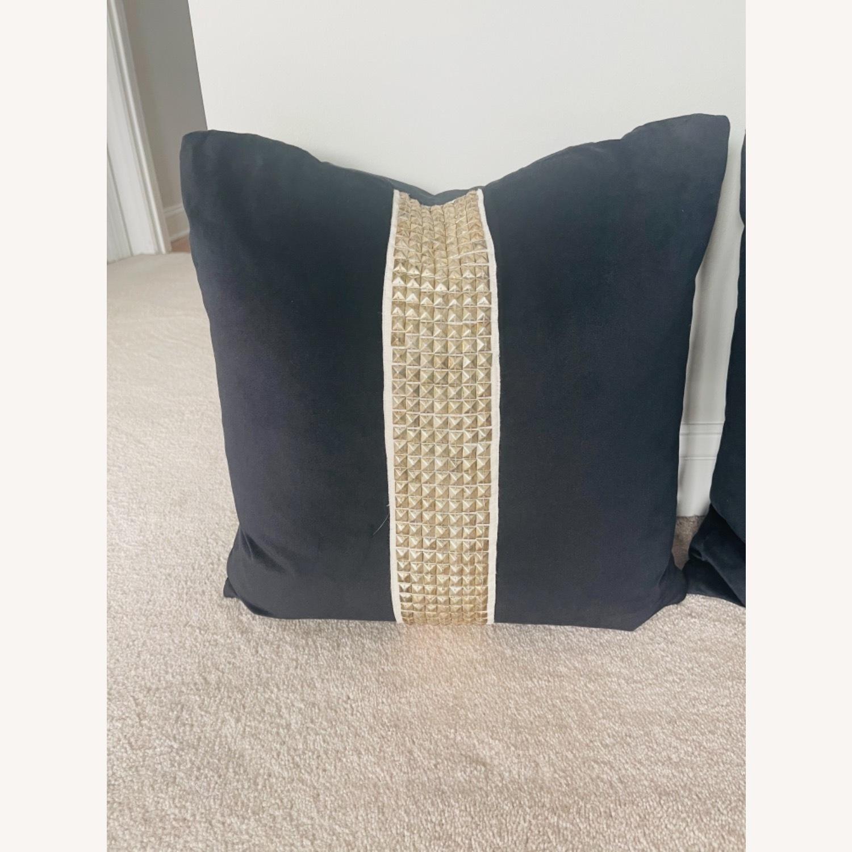 Black Velvet Throw Pillows - image-2