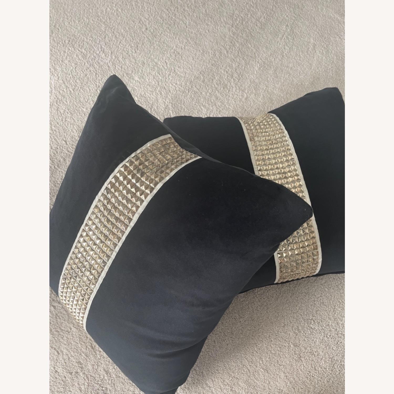 Black Velvet Throw Pillows - image-4