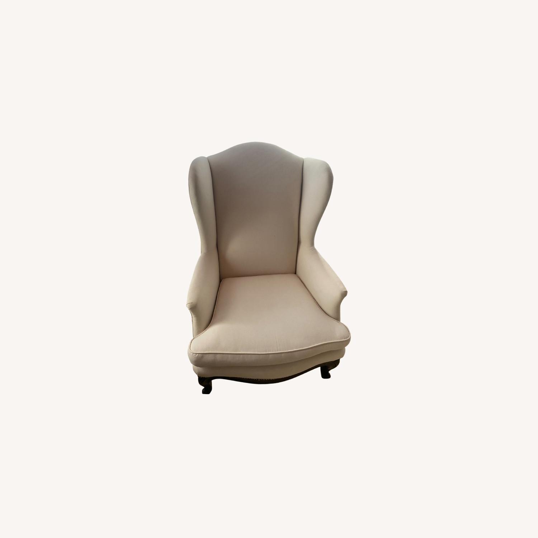 Vintage Wingback Armchair - image-0