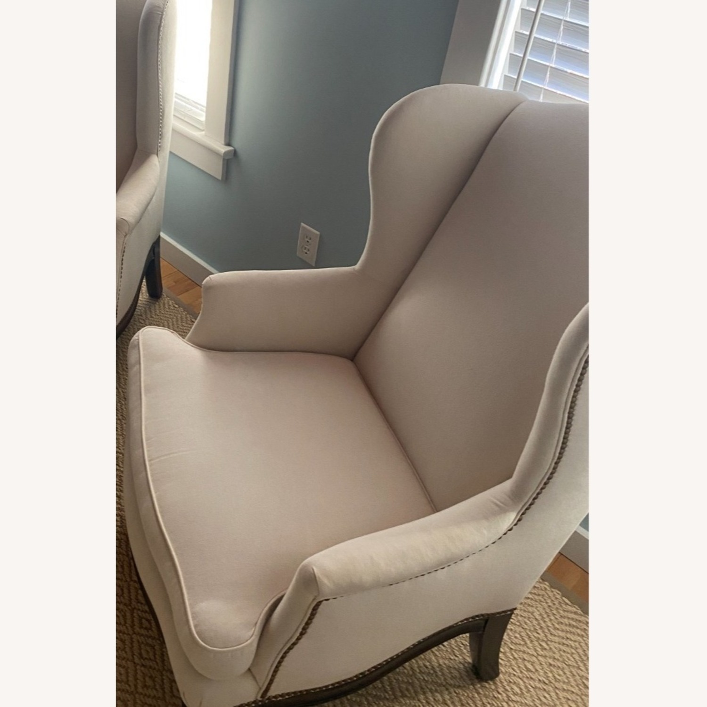 Vintage Wingback Armchair - image-7