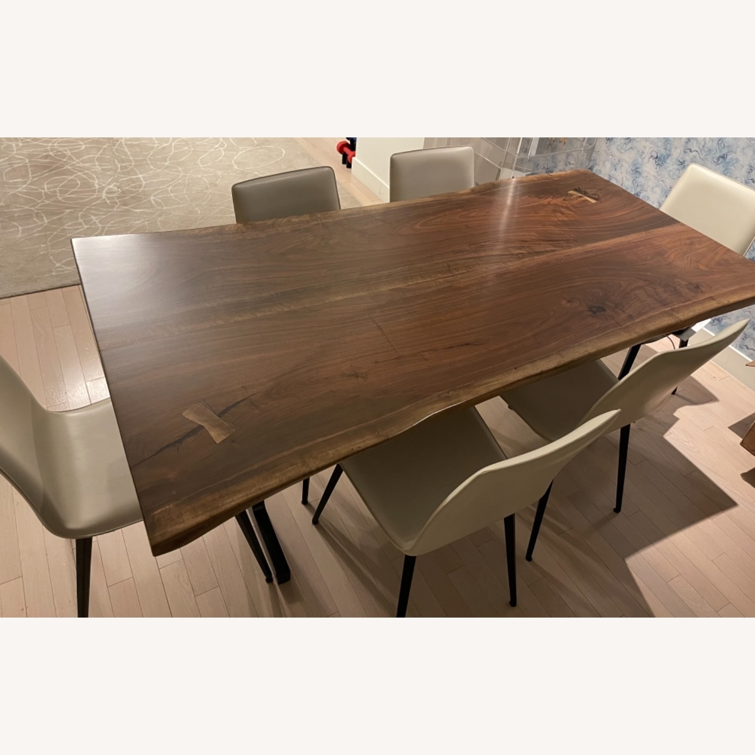 From the Source: Black Walnut Live Edge Slab Table - image-2