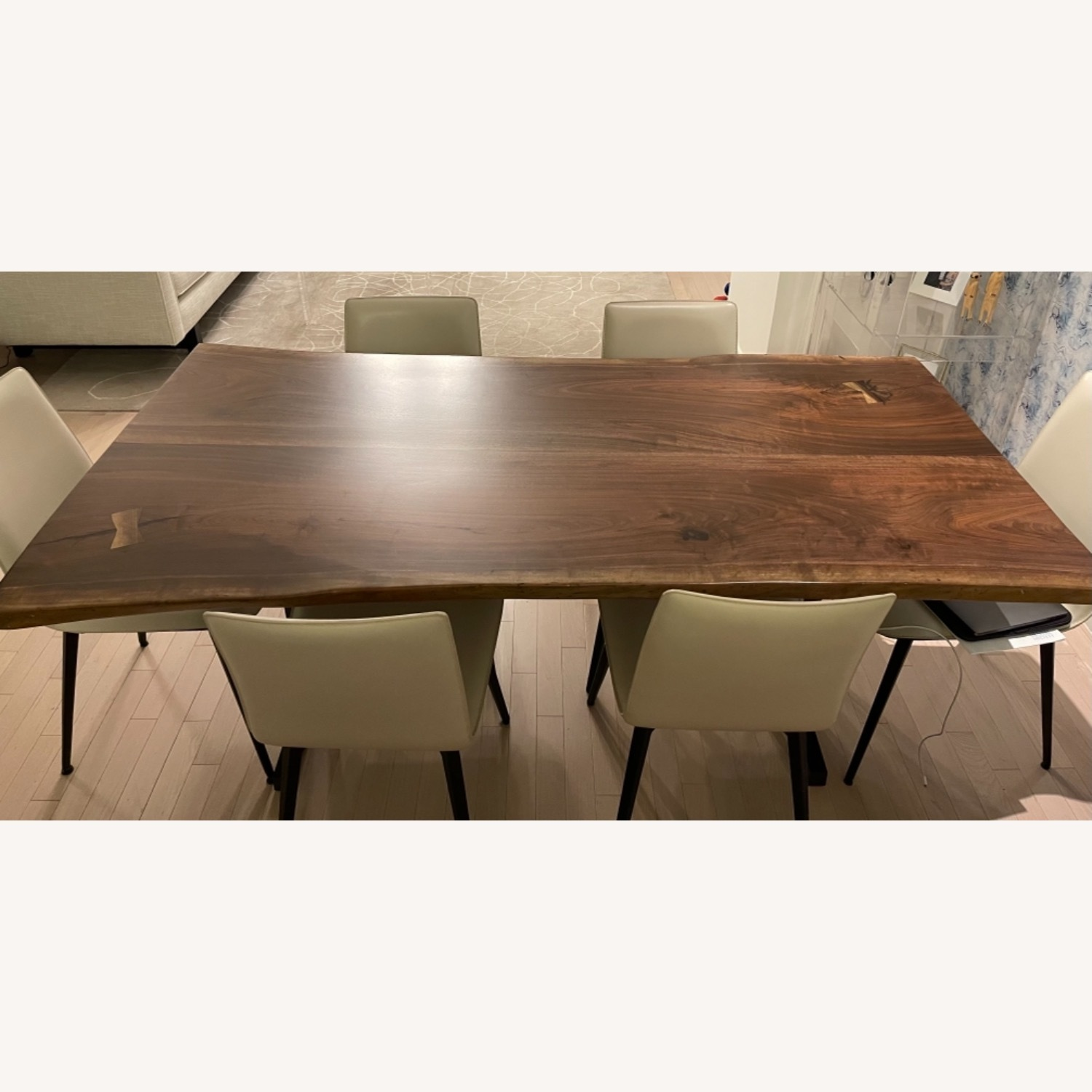 From the Source: Black Walnut Live Edge Slab Table - image-1