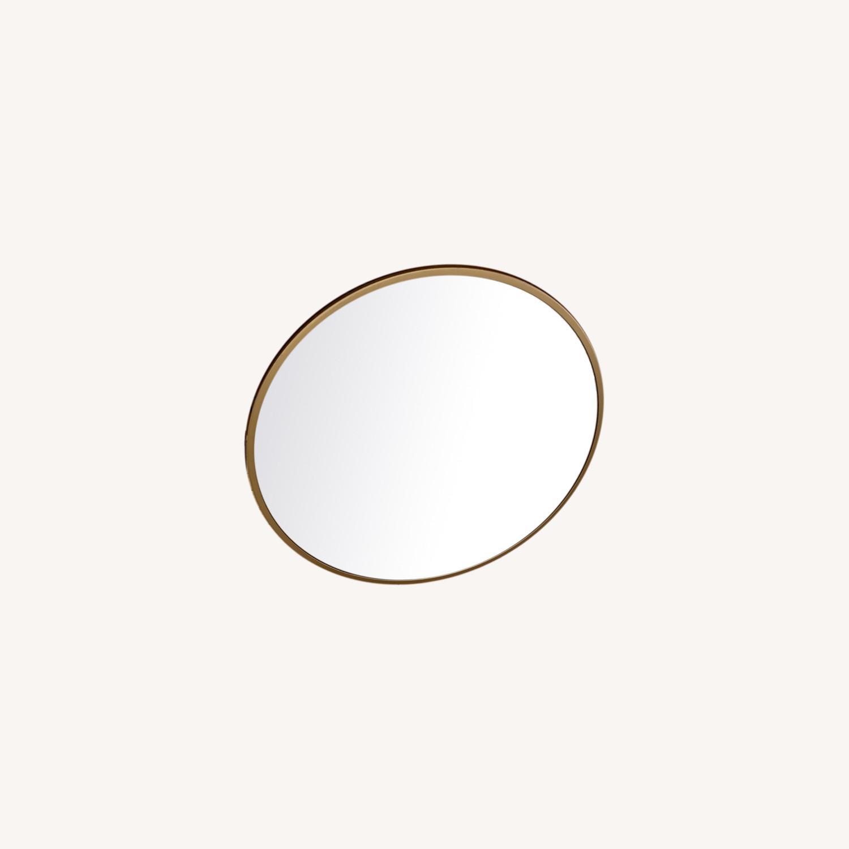 Round Gold Mirror - image-0