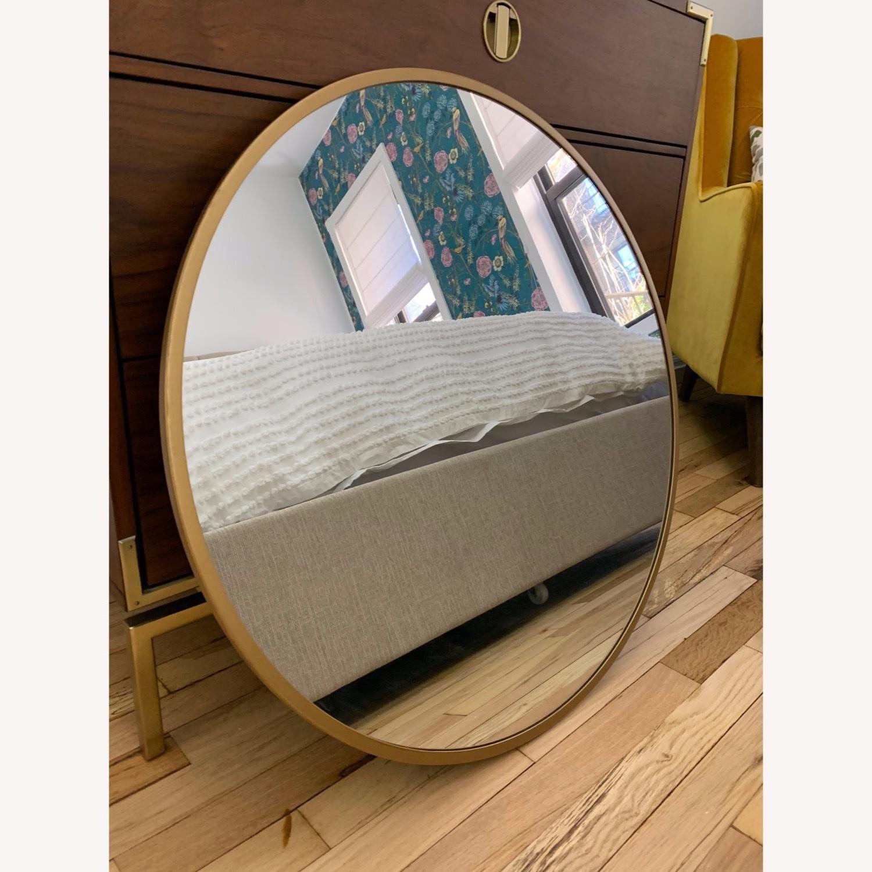 Round Gold Mirror - image-1