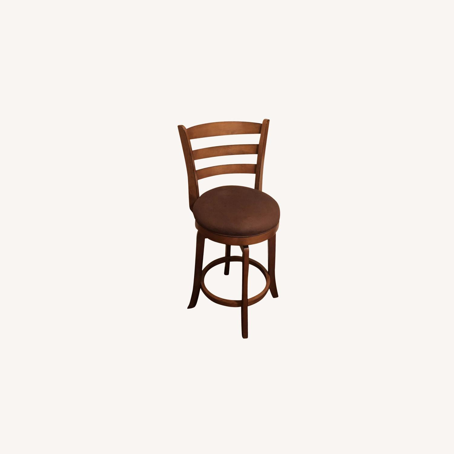 Bed Bath & Beyond Brown Swivel Counter Stool - image-0