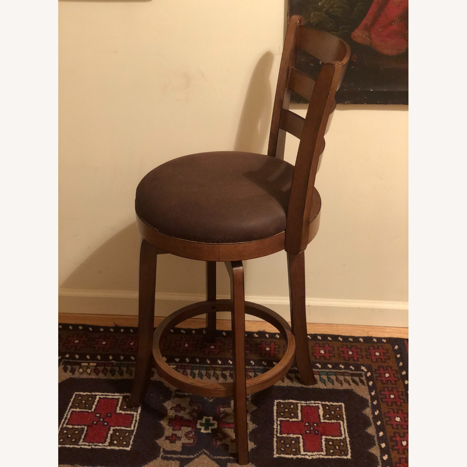 Bed Bath & Beyond Brown Swivel Counter Stool - image-8