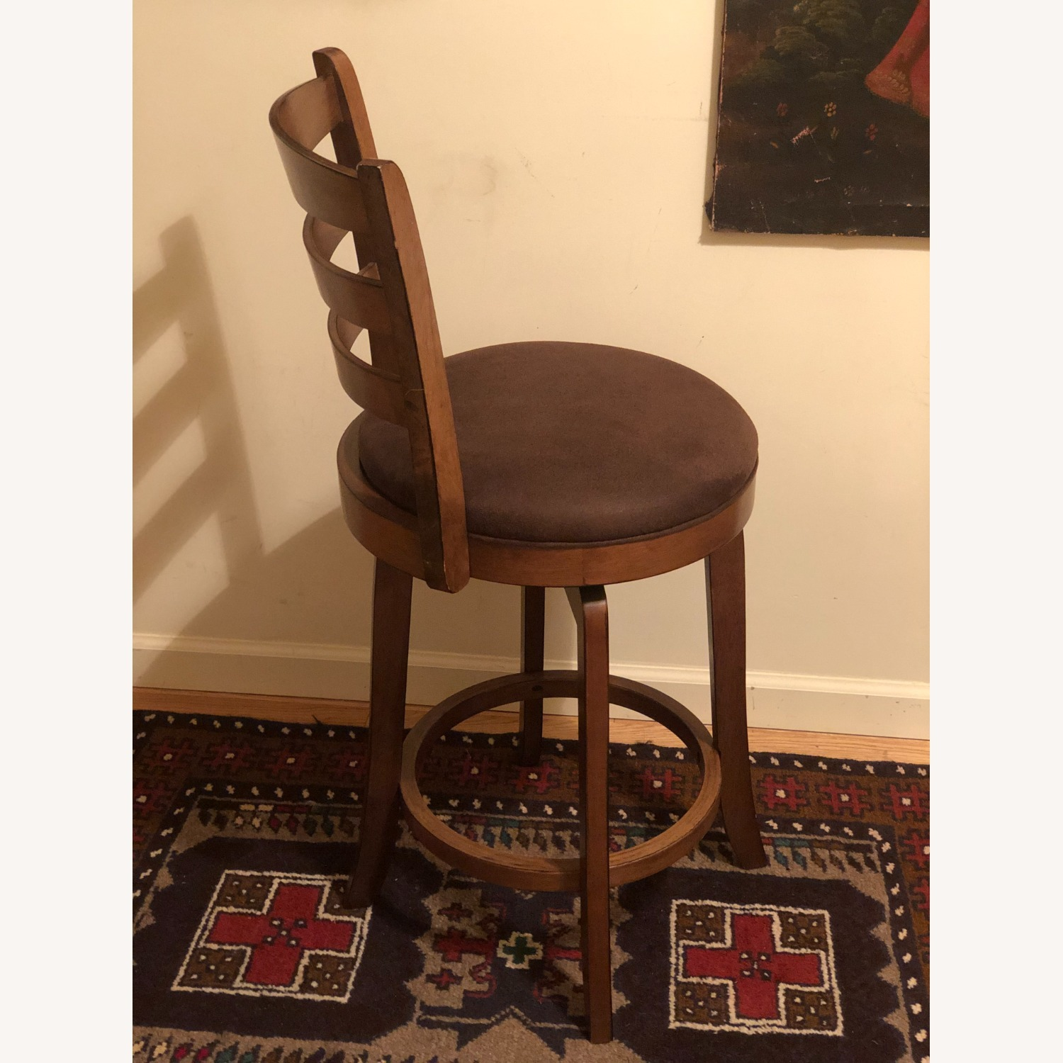 Bed Bath & Beyond Brown Swivel Counter Stool - image-7