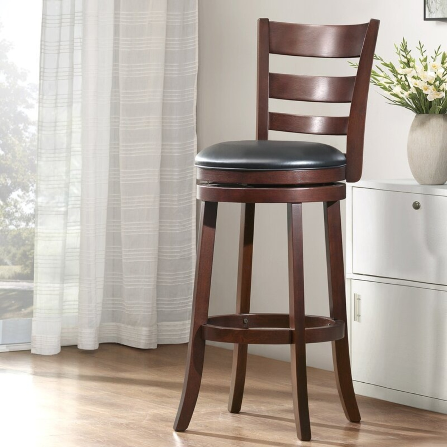 Bed Bath & Beyond Brown Swivel Counter Stool - image-1