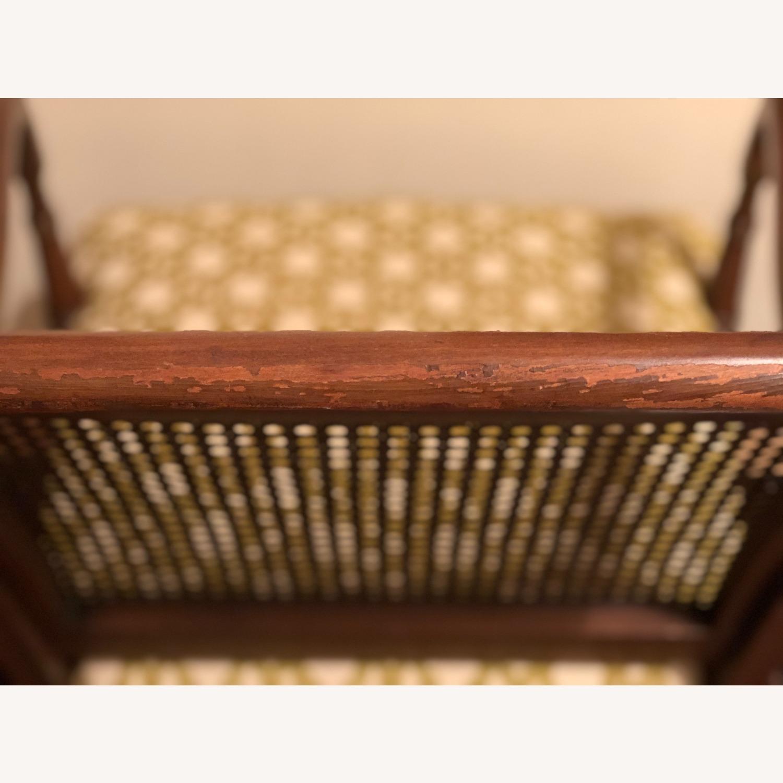 Wood and Rattan Armchair - image-11