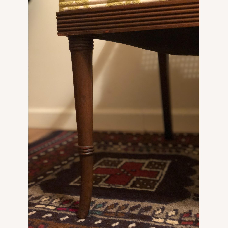 Wood and Rattan Armchair - image-5