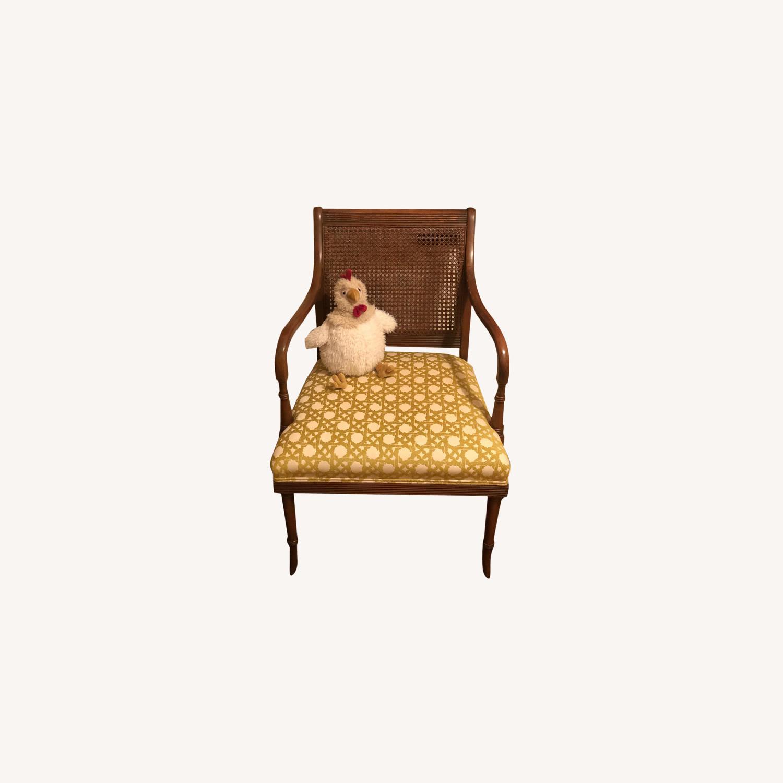 Wood and Rattan Armchair - image-0