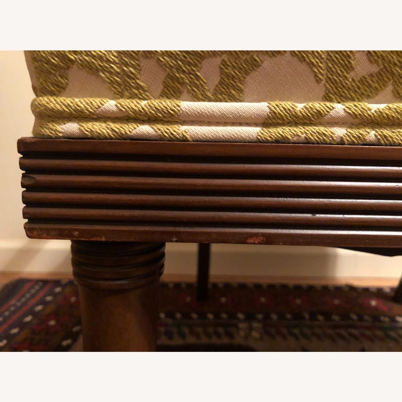 Wood and Rattan Armchair - image-9